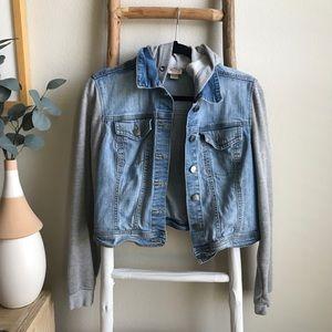 Target Mossimo Denim Grey Hoodie Jacket